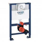 Grohe Rapid SL 3-in-1 WC Toilet Frame, Nova Flushplate, Cistern and Fixings, 820mm High