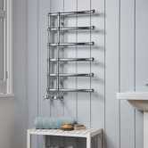 Heatwave Blandford Designer Heated Towel Rail 800mm H x 500mm W - Chrome