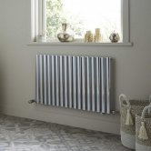 Heatwave Dorney Single Horizontal Radiator 600mm H x 592mm W - Chrome