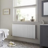Heatwave Dorney Double Horizontal Radiator 600mm H x 1012mm W - White