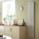 Heatwave Dorney Single Vertical Radiator 1800mm H x 352mm W - Chrome