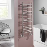 Heatwave Eversley Straight Ladder Towel Rail 1000mm H x 400mm W - Polished Stainless Steel
