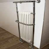 Heatwave Hampshire Radiator Towel Rail 960mm H x 510mm W - Chrome & White
