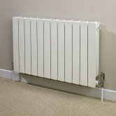 Heatwave Hanworth Horizontal Designer Aluminium Radiator 440mm H x 428mm W - 5 Sections