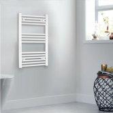 Heatwave Independent Straight Towel Rail 800mm H x 400mm W - White