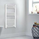 Heatwave Independent Straight Towel Rail 1000mm H x 400mm W - White