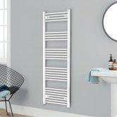 Heatwave Independent Straight Towel Rail 1600mm H x 400mm W - White