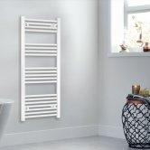 Heatwave Independent Straight Towel Rail 1200mm H x 500mm W - White
