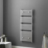 Heatwave Iridio Designer Heated Towel Rail 500mm H x 400mm W - White