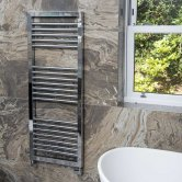 Heatwave Lambourn Designer Heated Towel Rail 900mm H x 500mm W - Chrome