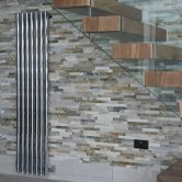 Heatwave Mayfair Single Designer Vertical Radiator 1800mm H x 435mm W - Chrome