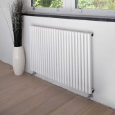 Heatwave Oxfordshire Horizontal Designer Radiator 600mm H x 990mm W - White