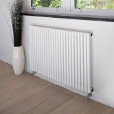 Heatwave Oxfordshire Horizontal Designer Radiator 600mm H x 1190mm W - White