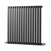 Heatwave Oxfordshire Horizontal Designer Radiator 600mm H x 990mm W - Gun Metal