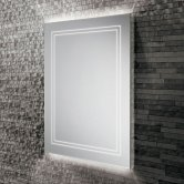 HiB Outline 60 LED Back-Lit Bathroom Mirror 800mm H x 600mm W