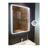 HiB Vega 60 Portrait Demistable LED Bathroom Mirror with Charging Socket 800mm H x 600mm W