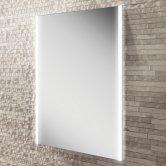 HiB Zircon 60 Demistable LED Bathroom Mirror 800mm H x 600mm W
