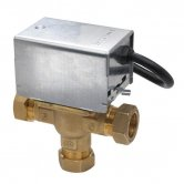 Honeywell V4073A1039 22mm Motorised Midposition Diverter Valve