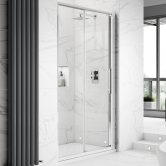 Hudson Reed Apex Sliding Shower Door 1000mm Wide - 8mm Glass