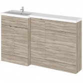 Hudson Reed Fusion LH Combination Unit with 600mm WC Unit - 1500mm Wide - Driftwood