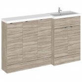 Hudson Reed Fusion RH Combination Unit with 300mm Base Unit x 3 - 1500mm Wide - Driftwood
