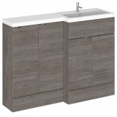 Hudson Reed Fusion RH Combination Unit with 300mm Base Unit - 1200mm Wide - Brown Grey Avola