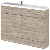 Hudson Reed Fusion Compact Combination Unit with 600mm WC Unit - 1200mm Wide - Driftwood