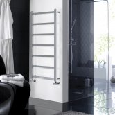 Hudson Reed Eton Heated Towel Rail 1200mm H x 450mm W Chrome