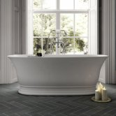 Hudson Reed Farringdon Freestanding Bath 1555mm x 740mm - White