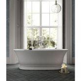 Hudson Reed Farringdon Freestanding Bath 1555mm x 740mm - White