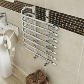 Hudson Reed Finesse Designer Heated Towel Rail 610mm H x 500mm W Chrome