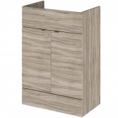 Hudson Reed Fitted Vanity Unit 600mm Wide - Driftwood