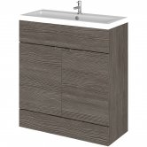 Hudson Reed Fusion Floor Standing Vanity Unit with Basin 800mm Wide - Brown Grey Avola