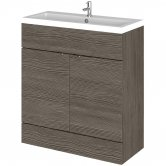 Hudson Reed Fitted Floor Standing Vanity Unit with Basin 800mm Wide - Brown Grey Avola
