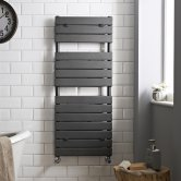 Hudson Reed Flat Panel Designer Heated Towel Rail 1213mm H x 500mm W Anthracite