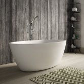Hudson Reed Grace Freestanding Bath 1500mm x 760mm - White