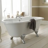 Hudson Reed Grosvenor Freestanding Bath, 1700mm x 745mm, Deacon Leg Set