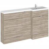 Hudson Reed Fusion RH Combination Unit with 600mm WC Unit - 1500mm Wide - Driftwood