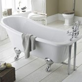 Hudson Reed Kensington Freestanding Slipper Bath 1700mm x 730mm - Deacon Leg Set