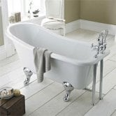 Hudson Reed Kensington Freestanding Slipper Bath 1700mm x 730mm - Corbel Leg Set