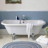 Hudson Reed Kenton Back to Wall Freestanding Bath 1700mm x 750mm - Deacon Legs