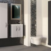 Hudson Reed Lucio Infinity Bathroom Mirror 800mm H x 600mm W - Silver