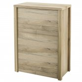 Hudson Reed Back to Wall WC Toilet Unit 595mm Wide Front Access, Natural Walnut