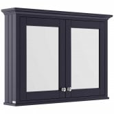 Hudson Reed Old London Mirrored Bathroom Cabinet 1050mm Wide - Twilight Blue