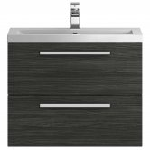 Hudson Reed Quartet Vanity Unit with Basin 720mm Wide Wall Mounted - Hacienda Black