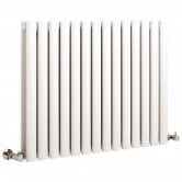 Hudson Reed Revive Small Double Designer Horizontal Radiator 633mm H x 826mm W White