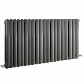 Hudson Reed Salvia Double Designer Horizontal Radiator 635mm H x 1223mm W Anthracite