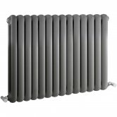 Hudson Reed Salvia Double Designer Horizontal Radiator 635mm H x 863mm W Anthracite
