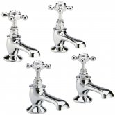 Hudson Reed Topaz Basin Taps and Bath Taps, Chrome