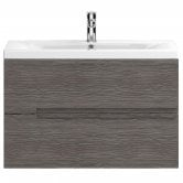 Hudson Reed Urban 1 Wall Hung Vanity Unit with Basin 1 Brown Grey Avola - 800mm Wide